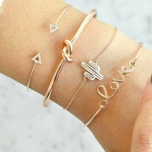 Jewelry - Dainty 4 piece bracelets